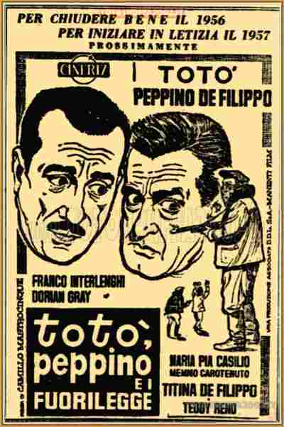 1956 12 26 Il Messaggero Toto Peppino e i fuorilegge T L intro